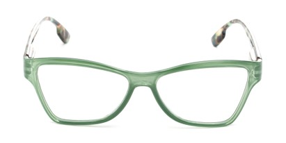 Front of The Fringe in Green/Tortoise