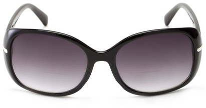 Front of The Felicity Bifocal Reading Sunglasses in Black with Smoke