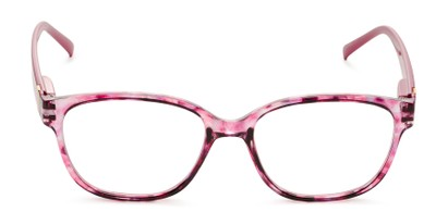 Front of The Adele in Tortoise/Pink