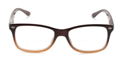 Front of The Aldgate Bifocal in Brown Fade