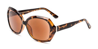 Angle of The Alejandra Sun in Tortoise, Women's Square Reading Sunglasses