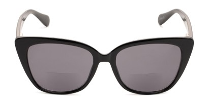 Front of The Alice Bifocal Reading Sunglasses in Black/ Smoke