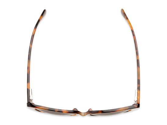 Overhead of The Alice Bifocal Reading Sunglasses in Brown Tortoise/ Amber