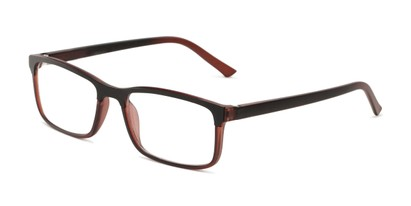Angle of The Andrew Bifocal in Brown/Black, Men's Rectangle Reading Glasses