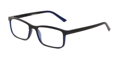 Angle of The Andrew Bifocal in Navy Blue/Black, Men's Rectangle Reading Glasses