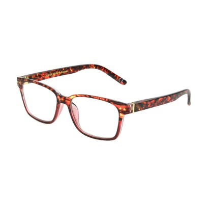 Angle of The Aurelia Blue Light e.Glasses in Red Tortoise, Women's Retro Square Computer Glasses