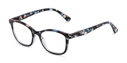 Angle of The Bonnie in Blue Multi Tortoise, Women's Square Reading Glasses