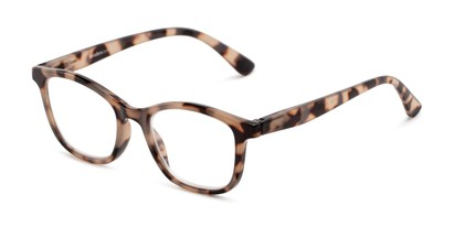 Angle of The Bonnie in Tan Tortoise, Women's Square Reading Glasses