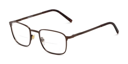 Angle of The Charles Bifocal in Bronze, Men's Square Reading Glasses