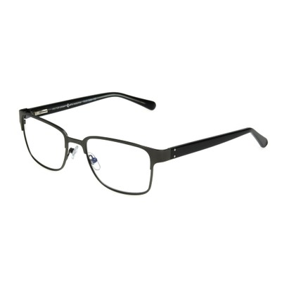 Angle of The Donovan Blue Light e.Readers in Gunmetal Grey, Men's Square Computer Glasses
