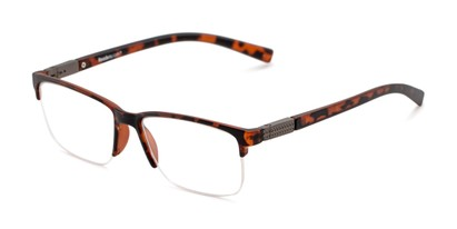 Angle of The Mitchell in Matte Tortoise, Women's and Men's Square Reading Glasses