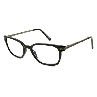 Angle of The Nathan Computer Glasses in Black, Women's and Men's Retro Square Computer Glasses