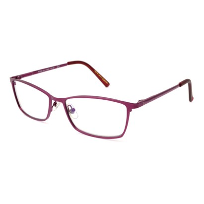 Angle of The Tibby Computer Glasses in Berry Pink, Women's Rectangle Computer Glasses