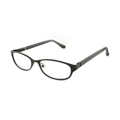 Angle of The Valerie Blue Light e.Readers in Black, Women's Oval Computer Glasses