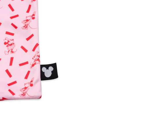 Front of Animation Microfiber Pouch in Minnie Mouse Print