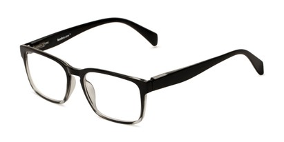 Angle of The Beckett in Black Fade, Men's Square Reading Glasses