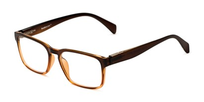 Angle of The Beckett in Brown Fade, Men's Square Reading Glasses
