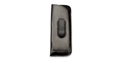 Front of Belt Clip Pouch in Black