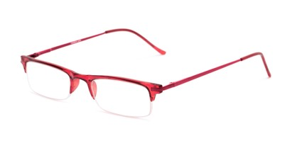 Angle of The Bishop in Red, Women's and Men's Browline Reading Glasses