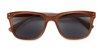 Folded of The Borough Reading Sunglasses in Brown with Smoke