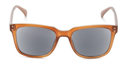Front of The Borough Reading Sunglasses in Brown with Smoke