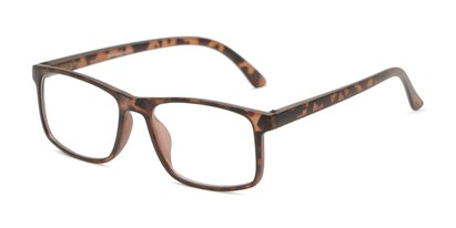 Angle of The Brixton Bifocal in Matte Tortoise, Women's and Men's Square Reading Glasses