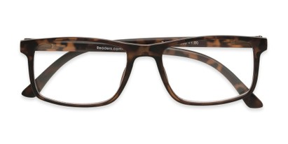 Folded of The Brixton Bifocal in Matte Tortoise