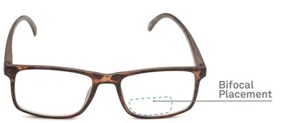 Detail of The Brixton Bifocal in Matte Tortoise