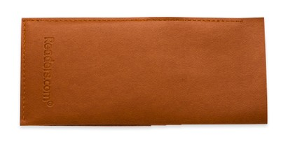 Front of Readers.com Wallet Pouch in Brown