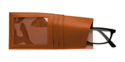 Detail of Readers.com Wallet Pouch in Brown