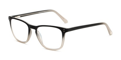 Angle of The Camden Multi Focus Reader by Foster Grant in Black, Women's and Men's Rectangle Reading Glasses