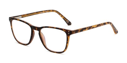Angle of The Camden Multi Focus Reader by Foster Grant in Tortoise, Women's and Men's Rectangle Reading Glasses