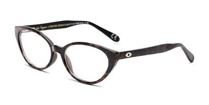 Angle of The Camila in Brown/Leopard, Women's Cat Eye Reading Glasses