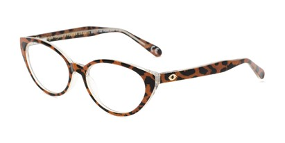 Angle of The Camila in Leopard, Women's Cat Eye Reading Glasses