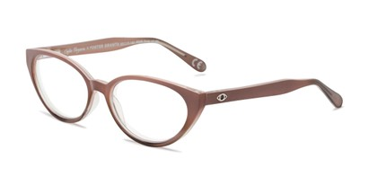 Angle of The Camila in Rose, Women's Cat Eye Reading Glasses