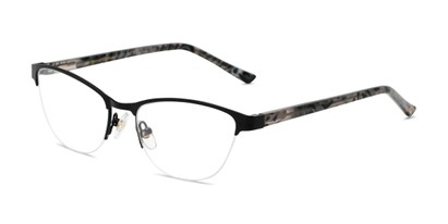 Angle of The Carina in Black, Women's Cat Eye Reading Glasses