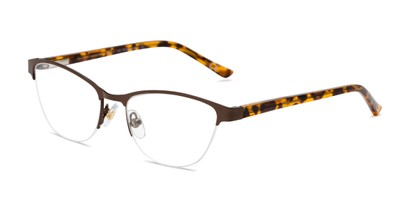 Angle of The Carina in Brown, Women's Cat Eye Reading Glasses