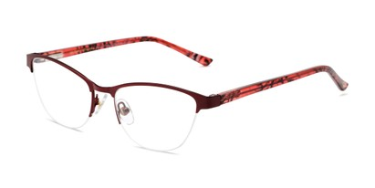 Angle of The Carina in Berry, Women's Cat Eye Reading Glasses