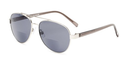 Angle of The Carmen Sun in Silver, Women's Aviator Reading Sunglasses
