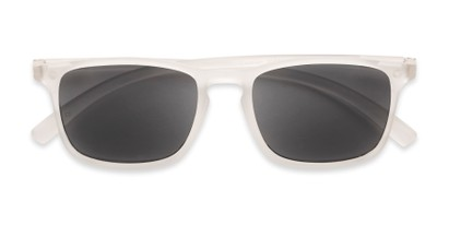Folded of The Cassian Reading Sunglasses in Matte Clear/ Smoke