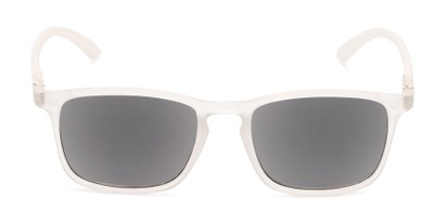 Front of The Cassian Reading Sunglasses in Matte Clear/ Smoke