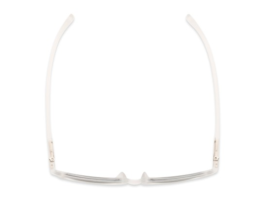 Overhead of The Cassian Reading Sunglasses in Matte Clear/ Smoke