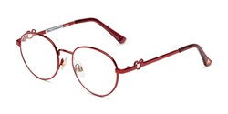 Angle of The Celebration in Wine, Women's Round Reading Glasses