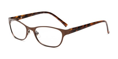 Angle of The Charlsie Multi Focus Reader by Foster Grant in Brown/Tortoise, Women's Cat Eye Reading Glasses