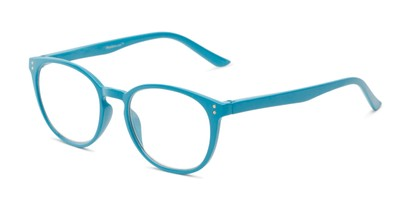 Angle of The Chase in Aqua Blue, Women's Round Reading Glasses
