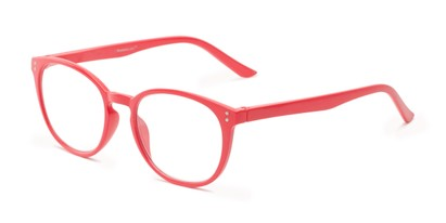 Angle of The Chase in Coral Pink, Women's Round Reading Glasses