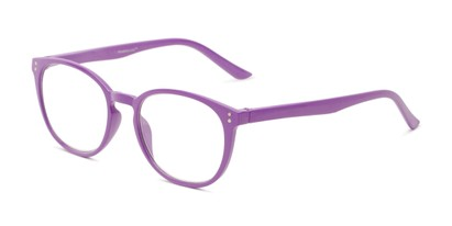Angle of The Chase in Bright Purple, Women's Round Reading Glasses