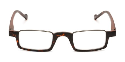 Front of The Chesire in Matte Tortoise/Black