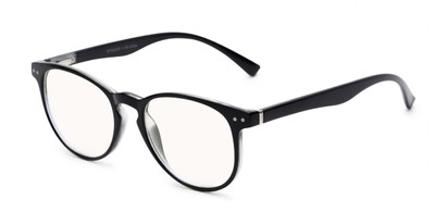 Angle of The Cole Computer Reader in Black, Women's and Men's Retro Square Reading Glasses