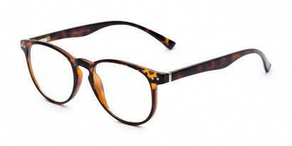 Angle of The Cole Computer Reader in Tortoise, Women's and Men's Retro Square Reading Glasses